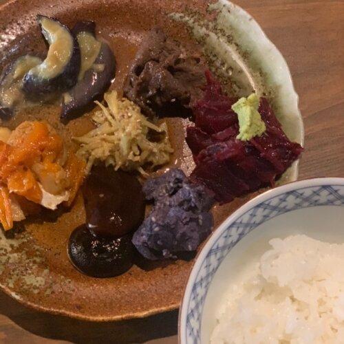ご飯と三浦野菜のプレートwithジビエ